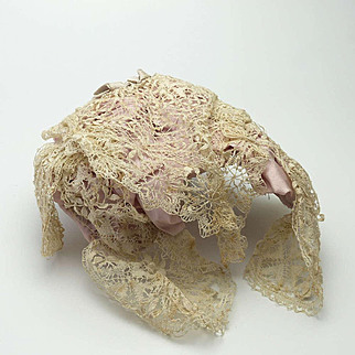 Victorian Lace Queen Victoria Style Snood-Hat