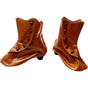 Pair of Tan French Fashion Doll Shoes