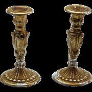 Pair of Antique Dollhouse Candlesticks