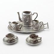 Vintage Dollhouse Metal Tea Set-As Is