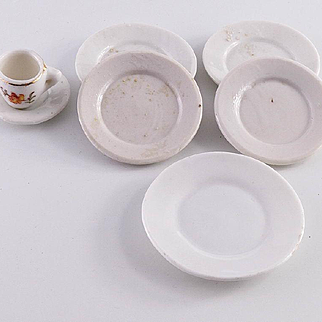 Small Group of Dollhouse Dishes