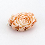Beautiful Antique Carved Flower Pendant/Brooch