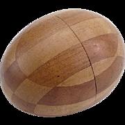 Vintage Inlaid Darning Egg Spool Holder