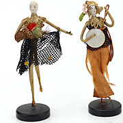 Two Bisque Head doll Party Favours