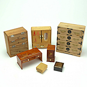 Group of Vintage Japanese Doll House Furniture