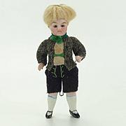 Antique All Bisque Boy Doll