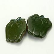 Vintage Green Bakelite Apples Buckle
