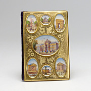 Exquisite Ormolu and Painted French Calendar Book IOB