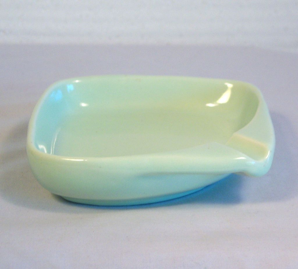 HAEGER Pale Green Porcelain Ashtray 1940's