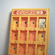 Vintage K Brand Lighter Display with Sears DieHard Battery Lighter