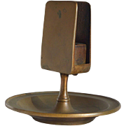Samuel Lewis Match Holder/Ashtray Solid Bronze-Circa 1900
