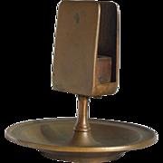 Samuel Lewis Match Holder/Ashtray Solid Bronze-Circa 1900