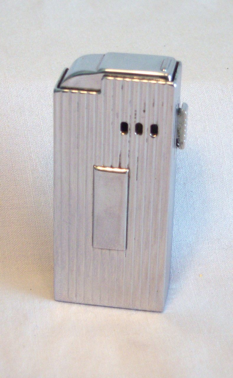A.S.R. Windproof Chrome Pocket Cigarette Lighter Circa 1950