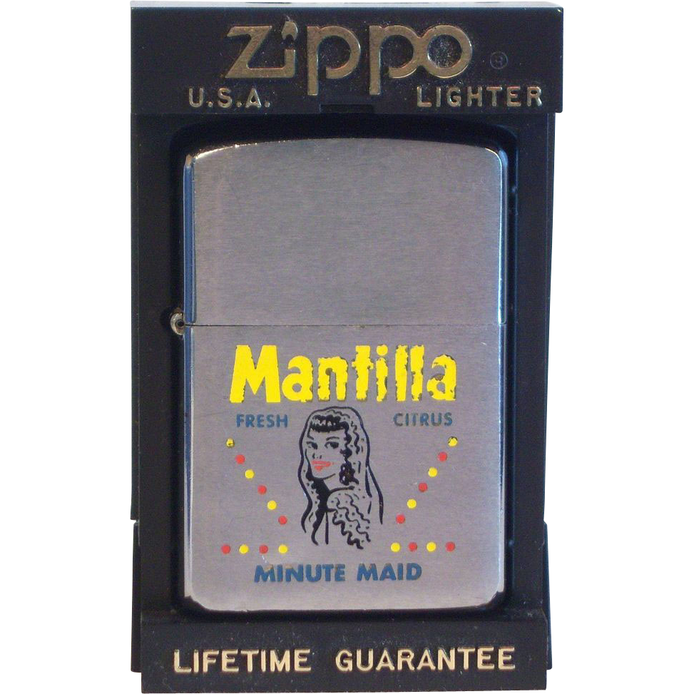 ZIPPO Minute Maid Mantilla Advertiser in  Four Color 1960