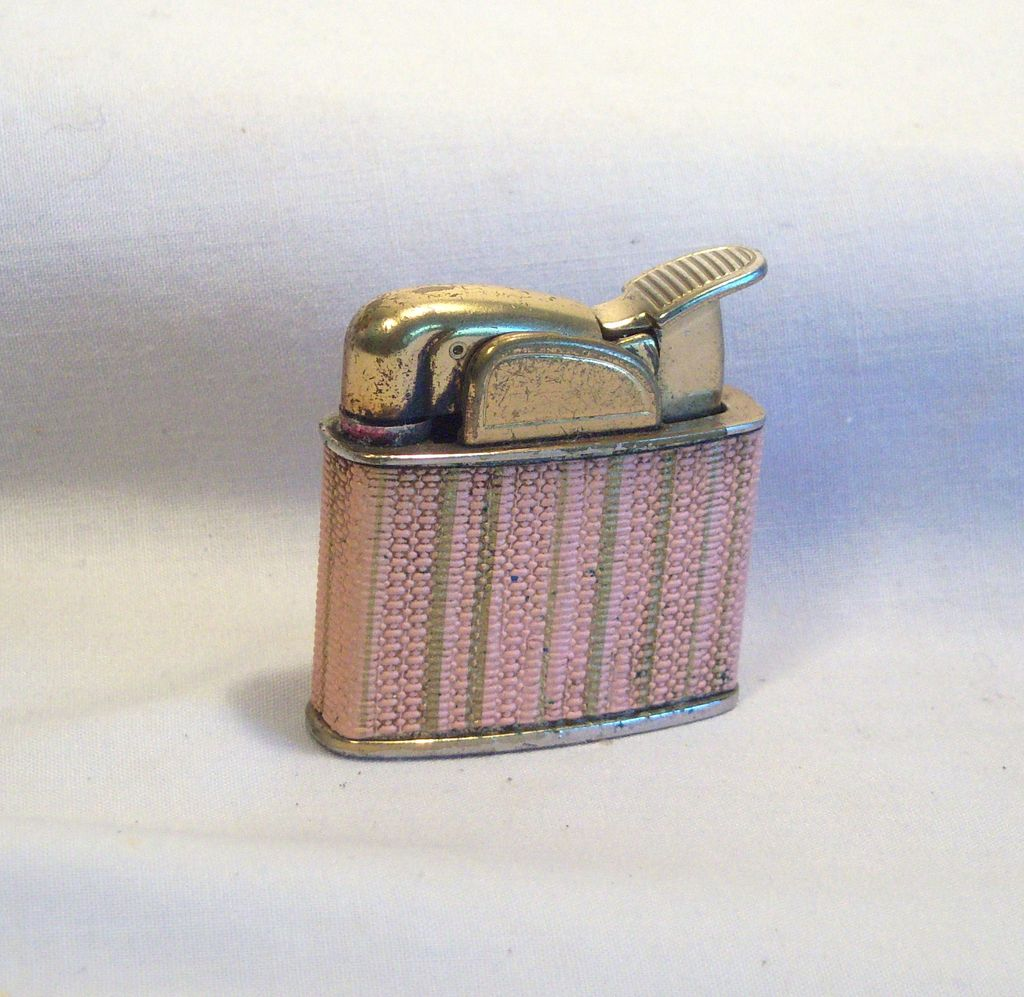 Evans Petite Pocket Lighter in Pink Wrap 1950's