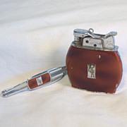 Rare Evans Trig-A-Lite Lighter and Money Clip Set Ca 1935