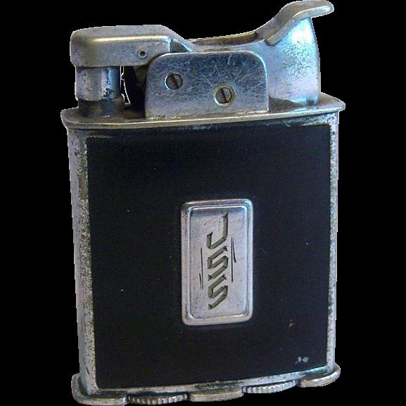 Evans Trig-A-Lite in Black Enamel 1930's