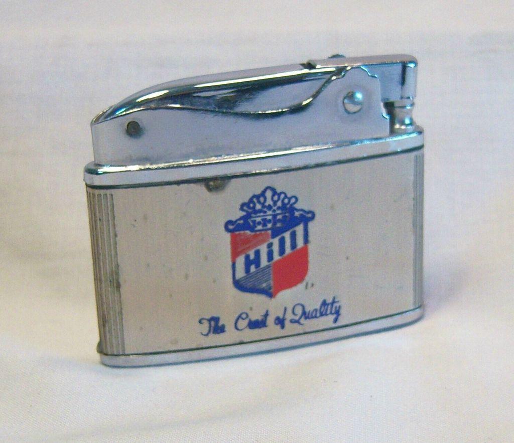 Vintage Japanese Flat Pocket Lighter Hill Mfg. Co.1950's