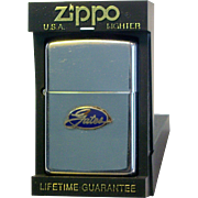 ZIPPO Pocket Lighter with Gates Logo 1970