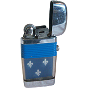 Classic Scripto Slim Pocket Lighter with Blue Band 1960's