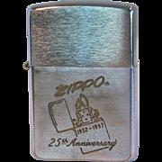 ZIPPO 25th Anniversary Lighter 1957