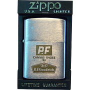 PF Canvas Shoes ZIPPO Pocket Lighter 1964