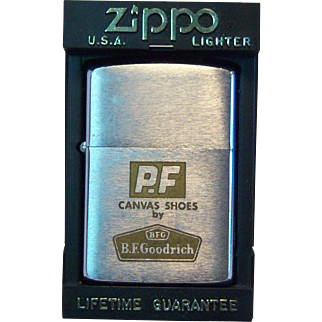 PF Canvas Shoes ZIPPO Pocket Lighter 1964