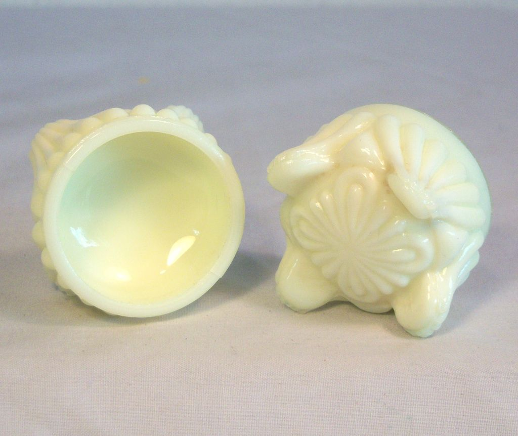 Open Salt Cellars with Fluted Feet 19th Century