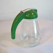 Vintage Green Syrup Dispenser 1950's