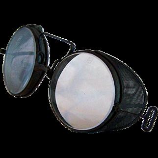 "1917 ""Adjustoglas"" WWI Era Safety Glasses by Safety Equipment Service Co."