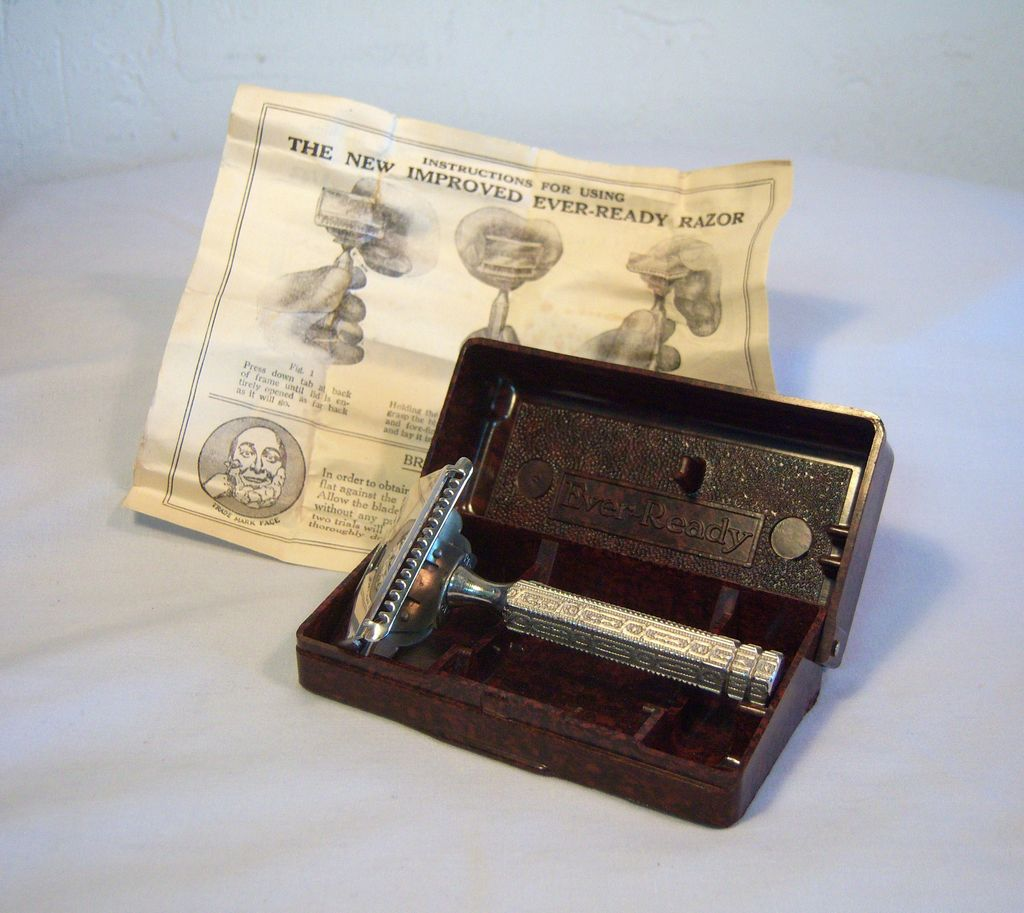 Ever-Ready Shaving Razor in Original Faux Tortoise Shell Case Pat.1912
