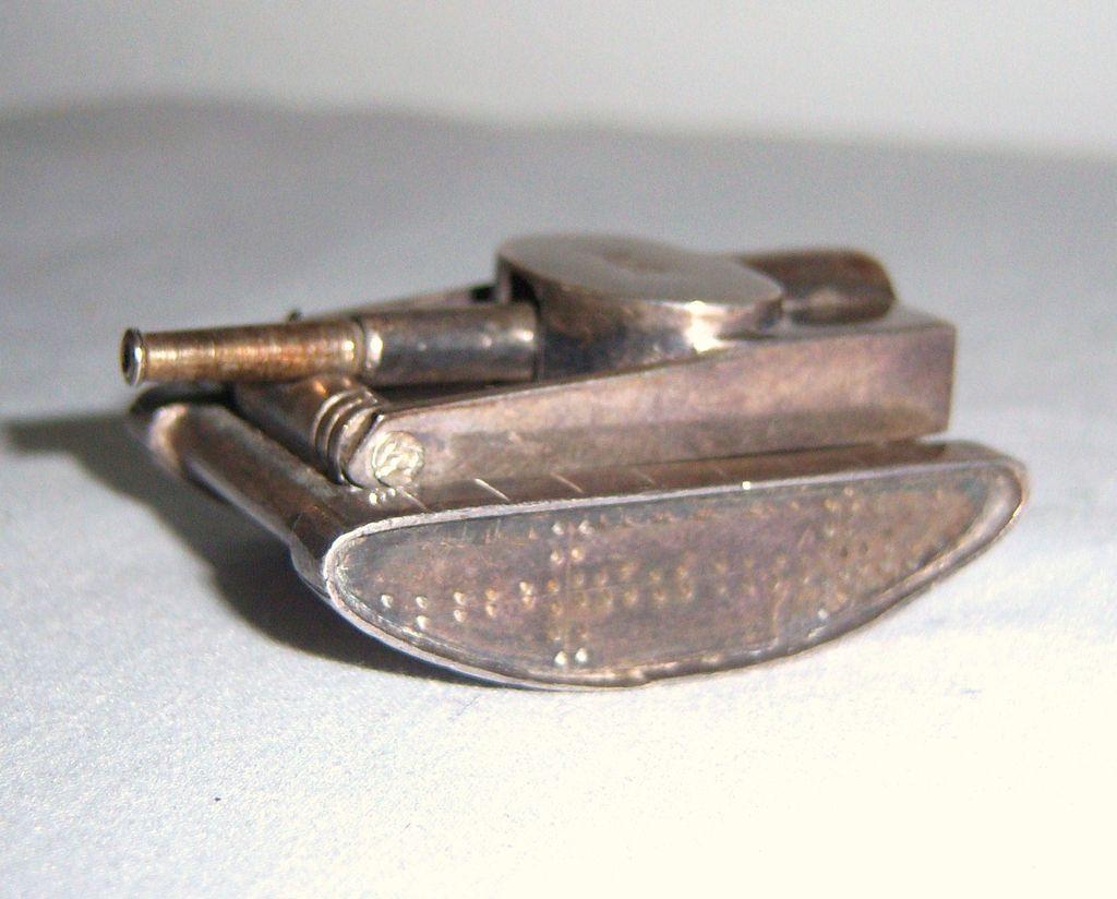 Mexican Silver Tank Lighter Circa 1948