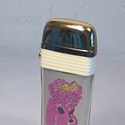 Scripto PINK POODLE  VU-Lighter Table Lighter with White Bands 1958