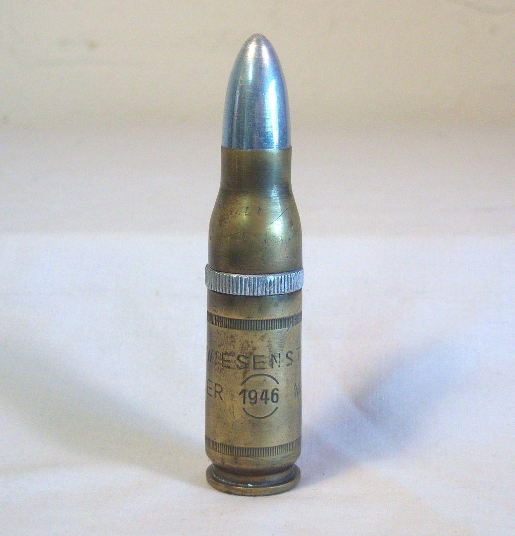 WW ll  50 Cal, Machine Gun Bullet Cigarette Lighter Germany 1946