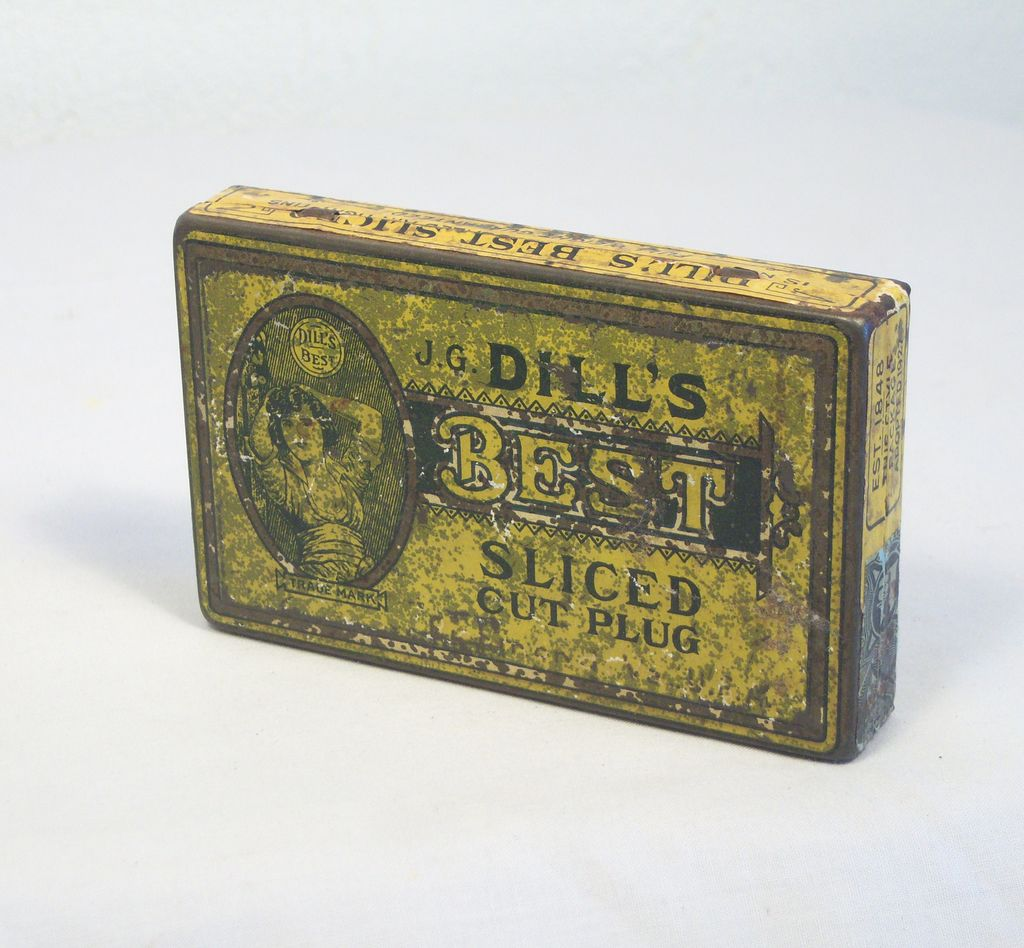 Vintage J.G. Dill's Tobacco Tin 1930's