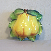 Pair of Pears Wall Pocket JAPAN 1950's