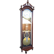 Massive Ansonia Jewelers Regulator Wall Clock No. 4 in Walnut