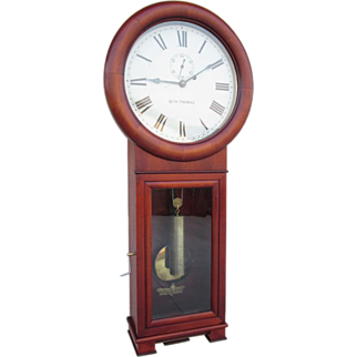 Pristine 1909 Seth Thomas Regulator No. 2 Clock in Stunning Cherry