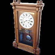 Elegant Seth Thomas Lincoln Shelf Clock - Nickel Hardware!