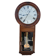 Welch, Spring & Co Regulator #2 Wall Clock in Beautiful Rosewood