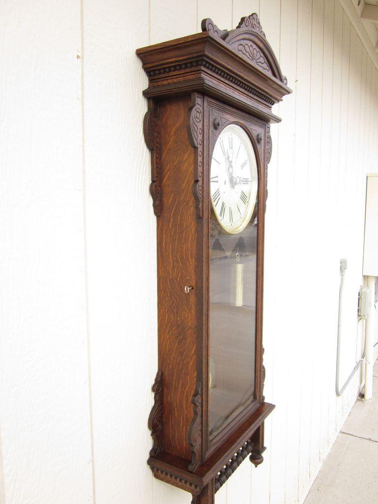 Waterbury Regulator 57 Wall Clock In Oak Victorian
