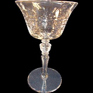 Libbey Rock Sharpe #2008 Ten Champagne/ Tall Sherbet Glasses