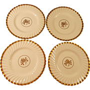 Mintons Gold Rose 4 Plates