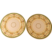 Royal Worcester Bessborough Pair of Plates