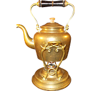 Brass Tea Kettle and Warmer