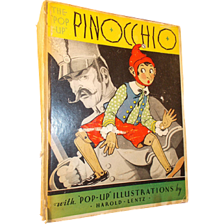 Pinocchio With Pop Up Illustrations by Harold Lentz