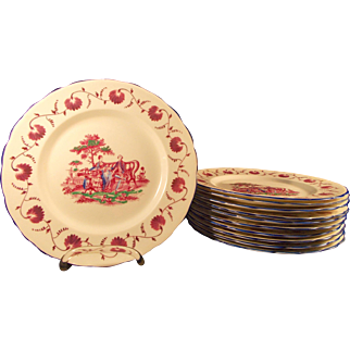 New Chelsea Staffordshire Set of 11 Plates