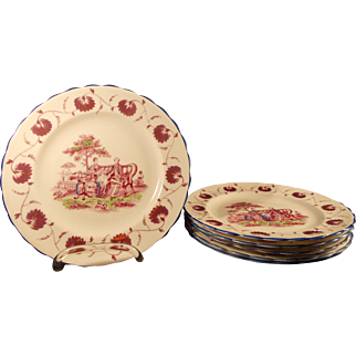 New Chelsea Staffordshire Set of 6 Salad Plates