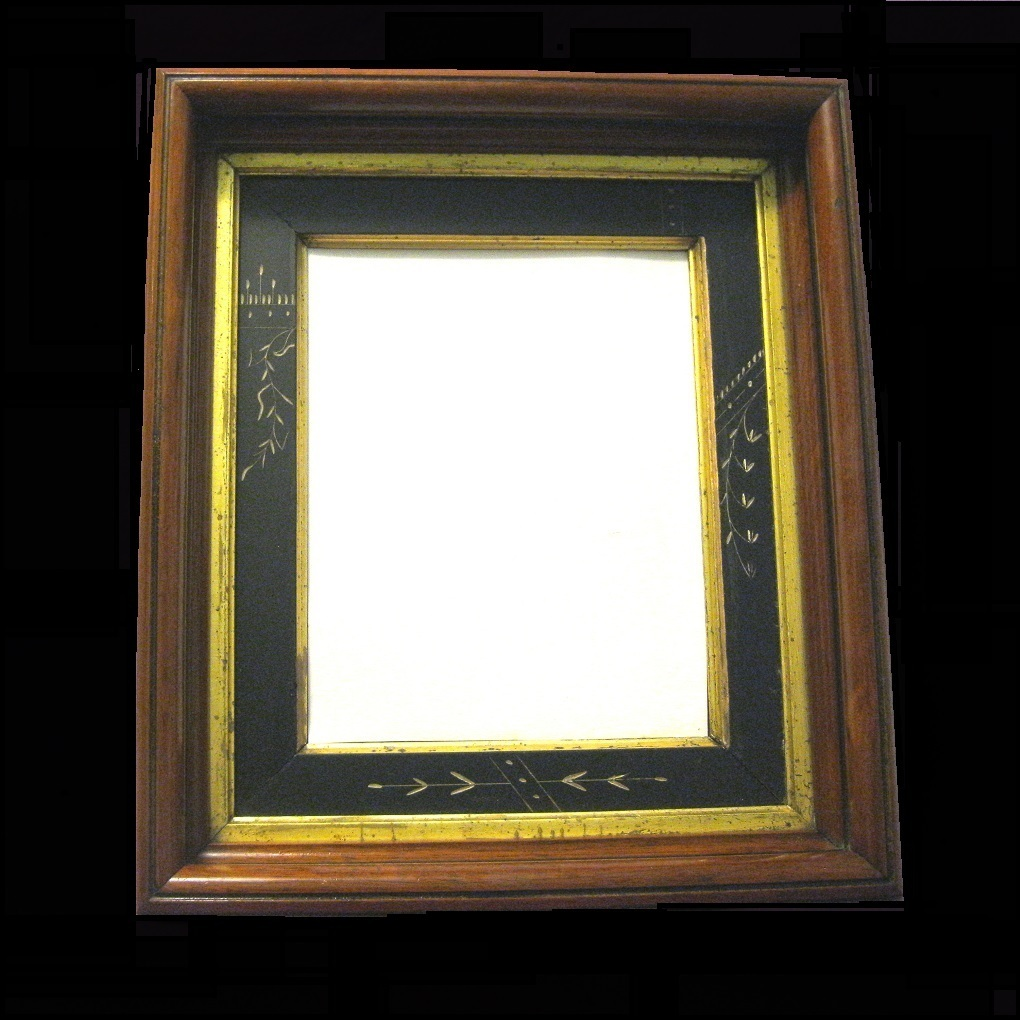 1875  Walnut Shadowbox Picture Frame