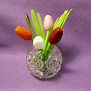 Mini blown glass German tulips